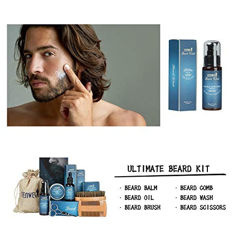 9 in 1 Beard Grooming Kit for Beard Care Unique Gifts for