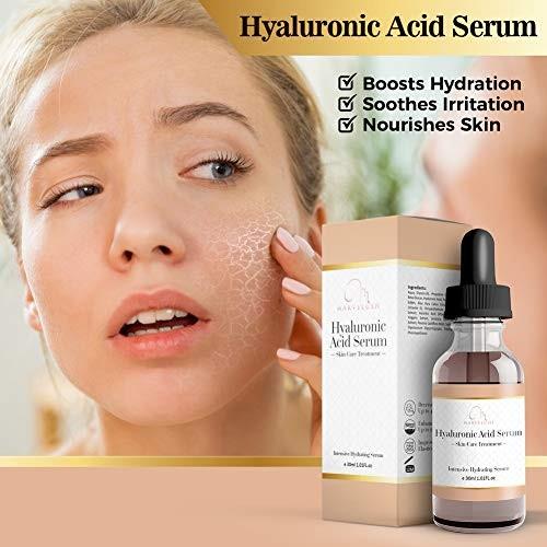 Derma Roller, Jade Roller & Hyaluronic Acid Serum | Anti-aging