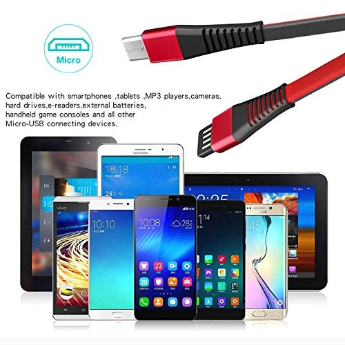 2 Pack] Micro USB Android Charger Cable Fast Charging Cord