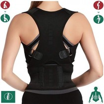 SZKANI 10 Magnets Back Braces for Back Pain - Best Fully Adjustable Posture Corrector for Men & Women - Improves Posture and 2 Steel Bone Provides Lumbar Support