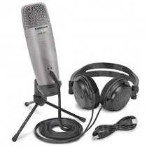 Samson C01U Pro Recording Pack with USB Studio Microphone, Headphones, and Software