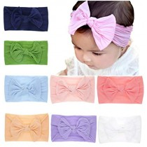 Baby Headbands Turban Knotted, Girl's Hairbands for Newborn,Toddler and Childrens (8 Pack-cl6)