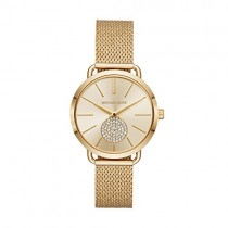 Michael Kors Women's Portia Analog-Quartz Watch with Stainless-Steel Strap, Gold, 16 (Model: MK3844)