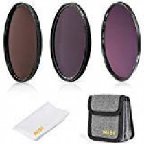 NiSi 77mm Circular Filter ND Filter Kit, Including ND8(3 Stops), ND64(6 Stops)+CPL, ND1000(10 Stops) and Filter Pouch