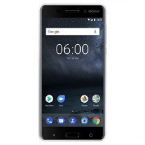 "Nokia 6 - Android 9.0 Pie - 32 GB - 16MP Camera - Dual SIM Unlocked Smartphone (AT&T/T-Mobile/MetroPCS/Cricket/H2O) - 5.5"" FHD Screen - Silver - U.S. Warranty"