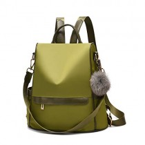 Women Backpack Purse Nylon Anti-theft Fashion Casual Lightweight Travel School Shoulder Bag (Olive Green)