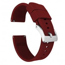24mm Crimson Red - Barton Elite Silicone Watch Bands - Quick Release - Choose Strap Color & Width