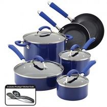 Farberware Millennium Nonstick Aluminum 12-Piece Cookware Set, Blue