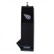 Team Golf NFL Tennessee Titans Embroidered Golf Towel, Checkered Scrubber Design, Embroidered Logo