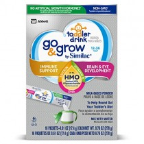 Go & Grow by Similac Non-GMO Toddler Milk-Based Drink with 2'-FL HMO for Immune Support, Powder Stick Packs, 17.4 g, 64 Count