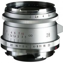 Voigtlander 28mm f/2.0 Ultron Vintage Aspherical VM Lens Type II (Chrome)