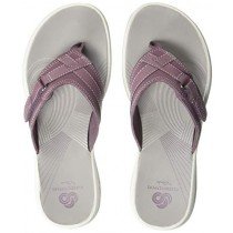 CLARKS Women's Breeze Sea Flip-Flop Purple Synthetic 120 M US