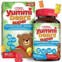 Yummi Bears Super Complete Multi + Omega Gummy Vitamins for Kids, 60 Count (Pack of 1)
