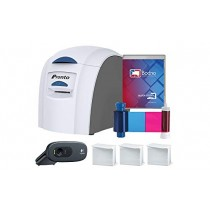 Magicard Pronto ID Card Printer & Complete Supplies Package with Bodno Silver Edition ID Software