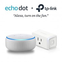 Echo Dot (3rd Gen) Sandstone Bundle with TP-Link simple set up smart plug