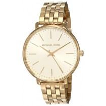 Michael Kors Women's Pyper Quartz Watch with Stainless-Steel-Plated Strap, Gold, 16 (Model: MK3898)