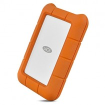 LaCie Rugged Thunderbolt USB-C 4TB External Hard Drive Portable HDD - USB 3.0 compatible, Drop Shock Dust Water Resistant, Mac and PC Computer Desktop Workstation Laptop, 1 Mo Adobe CC (STFS4000800)
