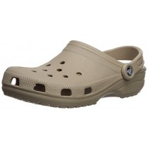 Crocs Men's and Women's Classic Clog, Comfort Slip On Casual Water Shoe, Lightweight, Cobblestone, 8 US Women / 6 US Men