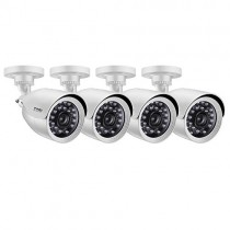 ZOSI 4 Pack 2MP HD 1080p Security Bullet Camera Outdoor/Indoor (Hybrid 4-in-1 HD-CVI/TVI/AHD/960H Analog CVBS),24PCS LEDs, Long Night Vision,Weatherproof Surveillance CCTV Camera Housing