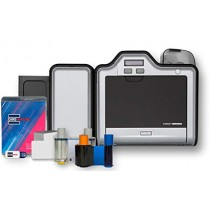 Fargo HDP5000 Dual Side ID Card Printer & Supplies Bundle with Card Imaging Software 89640