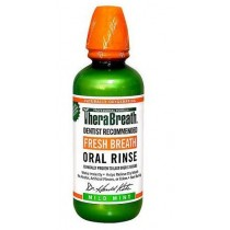 TheraBreath Fresh Breath Oral Rinse, Mild Flavor 16 fl oz (Pack of 3)