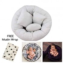 Newborn Photography Props, Baby Pillow Basket and Accessory Filler it is a Wheat Donut Posing Prop for Boys and Girls Includes 4 Size Pillows to Help Get The Perfect Picture