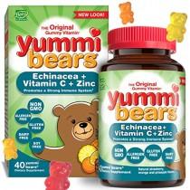 Yummi Bears Immunity Vitamins, Gummy Vitamins with Echinacea, Vitamin C, & Zinc, 40 Count (Pack of 1)