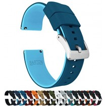 23mm Two Tone Blue (Flatwater) - Barton Elite Silicone Watch Bands - Quick Release - Choose Strap Color & Width