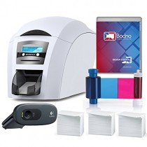 Magicard Enduro 3e Single Sided ID Card Printer & Complete Supplies Package with Silver Bodno ID Software
