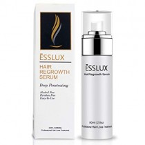 Hair Loss Serum, ESSLUX Hair Regrowth Treatment 5% Minoxidil Topical Solution for Hair Loss and Hair Thinning, Alcohol-Free, Suitable for Men and Women (80ML)