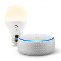 Echo Dot (3rd Gen) bundle with LIFX Wi-Fi Smart Light - Sandstone