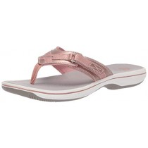 CLARKS Women's Breeze Sea Flip-Flop Rose Gold 100 M US