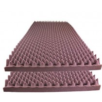 "Foamily Burgundy Acoustic Foam Egg Crate Panel Studio Foam Wall Panel 48"" X 24"" X 2.5"" (2 Pack)"