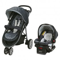 Graco Aire3 Travel System | Includes The Lightweight Aire3 Stroller and SnugRide SnugLock 30 Infant Car Seat, McKinley