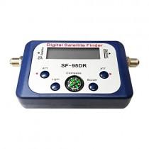 drunkenman Digital Displaying Satellite Finder Meter Satfinder TV Signal Receiver Decoder Satlink Receptor Buzzer Compass LCD FTA Dish