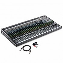 Mackie 30-Channel 4-Bus Mixer with USB and Effects with AmazonBasics XLR Male to Female Microphone Cable - 10 FeetHosa Stereo Breakout Cable, 3 feet