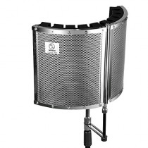 """Neewer Foldable Microphone Acoustic Isolation Shield with Lightweight Metal Alloy, Acoustic Foams, Mounting Brackets and Screws for Mic Stand with 5/8"""" Thread"""