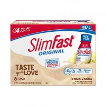 SlimFast Original - Weight Loss Meal Replacement RTD Shakes - With 10g Of Protein & 5g Of Fiber - Plus 24 Vitamins and Minerals per serving - French Vanilla, 8 Count