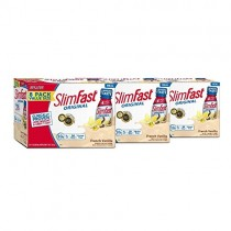 SlimFast original French Vanilla Shake - Ready To Drink Weight Loss Meal Replacement - 10g of Protein - 11 Fl. Oz Bottle - 8Count (Pack Of 3)