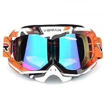 Polarized Sport Motorcycle Motocross Goggles ATV Racing Goggles Dirt Bike Tactical Riding Motorbike Goggle Glasses, Bendable Windproof Dustproof Scratch Resistant Protective Safety Glasses (Orange)