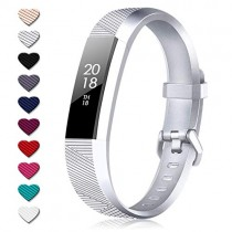 TreasureMax for Fitbit Alta Bands and Fitbit Alta HR Bands, Adjustable Soft Silicone Sports Replacement Accessories Bands for Fitbit Alta HR/Fitbit Alta/Fitbit Ace,Women/Men,Large/Small