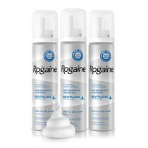 Men's Rogaine 5% Minoxidil Foam for Hair Loss and Hair Regrowth, Topical Treatment for Thinning Hair, 3-Month Supply, 2.11 Oz, Pack of 3