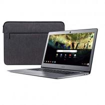 """Acer Chromebook 14, Celeron N3160, 14"""" Full HD, 4GB LPDDR3, 16GB eMMC, CB3-431-C9W7 Bundle, Silver"""