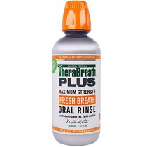 TheraBreath Plus Maximum Strength Fresh Breath Oral Rinse 16 fl oz 473 ml