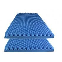 "Foamily Ice Blue Acoustic Foam Egg Crate Panel Studio Foam Wall Panel 48"" X 24"" X 2.5"" (2 Pack)"