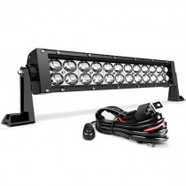LED Light Bar AUTOSAVER88 16 Inch LED Work Light 4D 144W with 8ft Wiring Harness Kit, Straight Fish Eye Lens 12000Lumens Offroad Automotive Spot & Flood Combo Beam,2 Year Warranty
