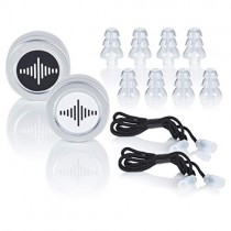 High Fidelity Concert Ear Plugs by BetterSound | Filtered Noise Reduction Ear Plugs for Musicians Drummers dj Motorcycle | Tinnitus Relief | 2 Sets, Clear, Corded