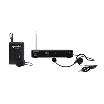 Gemini VHF-01HL Professional Audio DJ Equimpent Single Channel Wireless VHF System and Lavalier Headset Microphone with 100ft Opereating Range
