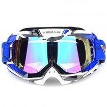 Polarized Sport Motorcycle Motocross Goggles ATV Racing Goggles Dirt Bike Tactical Riding Motorbike Goggle Glasses, Bendable Windproof Dustproof Scratch Resistant Protective Safety Glasses (Blue)
