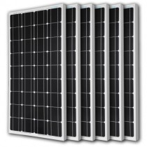 6pcs RENOGY 100 Watt 100w Monocrystalline Photovoltaic PV Solar Panel Module 12V Battery Charging